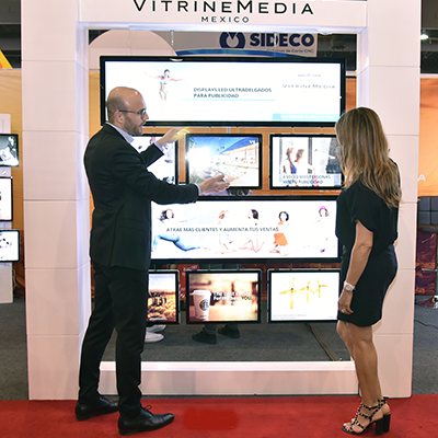Vitrinemedia displays led